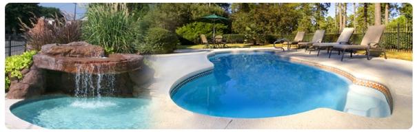 """raleighs strongest inground Fiberglass Pool"