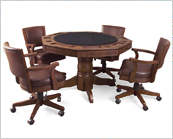 raleigh poker table and chairs