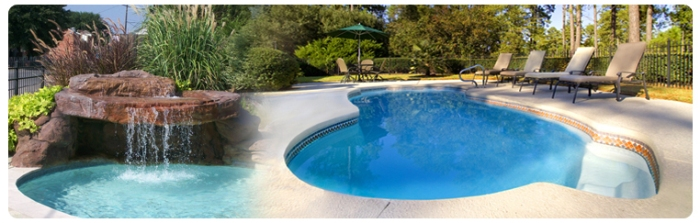 Fiberglass pools raleigh hot tubs billiards for Pool design raleigh nc