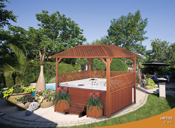 Raleigh hot tubs above ground pools from 1695 hot tubs for Cal spa gazebo