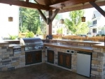 raleigh pool and spa, raleigh backyard kitchens