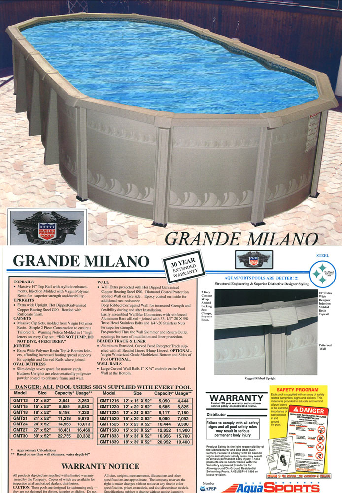 Grandemilano Brochure Buybest Pool Supply Best Deals Best Prices Local Install Available
