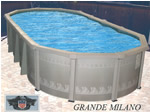 oval Buster Crabbe Aquasport Round above ground pool Pool