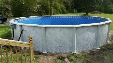 Raleigh all Resin Pool Install