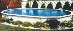 Aquasport above ground pool, semi inground pool