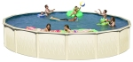 Long Island Above Ground Swim N Play Chlorine Pool