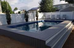 Rectangle semi inground Radiant Pool Insulation, semi inground rectangle pool, rectangle above ground pool