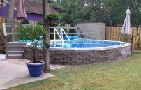aquasport 52 wall construction, aquasport 52 pool, semi inground pool, swim in pool, above ground pool