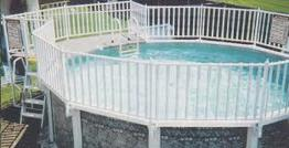 1a buster crabbe pool with deck and full fence